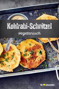Kohlrabi escalope- Kohlrabi-Schnitzel Prepare a quick and easy vegetarian alternative to Wiener schnitzel with our recipe. Our kohlrabi schnitzel is breaded like veal or pork schnitzel and fried in hot fat - Wiener Schnitzel, Pork Schnitzel, Baby Food Recipes, Meat Recipes, Food Network Recipes, Healthy Recipes, Healthy Eating Tips, Healthy Nutrition, Clean Eating Recipes