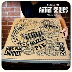 """Chris Collins"" Limited Edition Pizza Box"