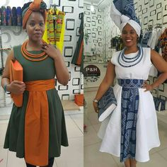 Latest Shweshwe Styles for Fashion Lovers - Reny styles Sepedi Traditional Dresses, South African Traditional Dresses, South African Dresses, African Wear Dresses, African Wedding Attire, African Attire, Seshweshwe Dresses, Shift Dresses, Fashion Models