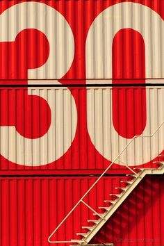 huge lettering on shipping container wall White Industrial, Industrial Signage, Photocollage, Wayfinding Signage, Environmental Graphics, Typography Letters, Grafik Design, Letters And Numbers, Red And White