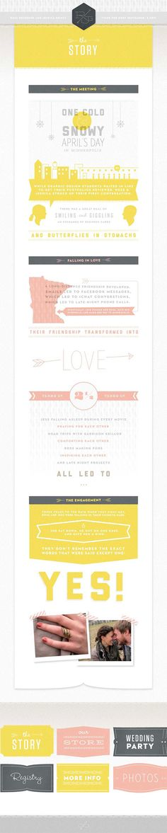 I think wedding websites are a bit corny, but at least this one is designed well!