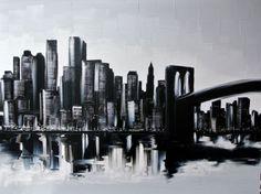 """The Magic of Manhattan  36x48    Joëlle Blouin Artist -  Portfolio"