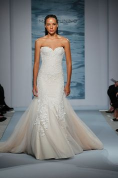 Sweetheart Mermaid Wedding Dress  with No Waist/Princess Seams in Embroidery. Bridal Gown Style Number:33034117