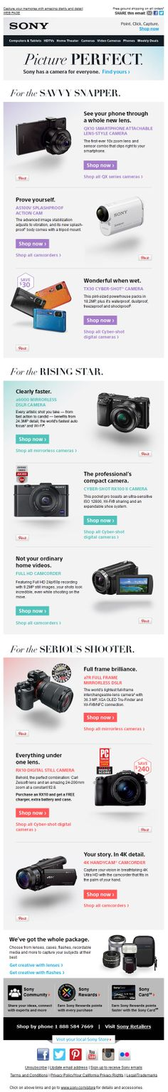 Great email design from Sony