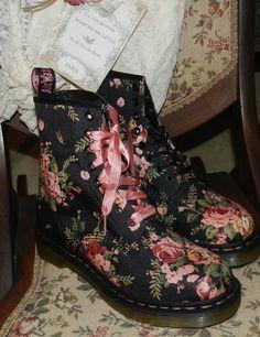 Gotta love these~ Doc Marten Victorian Rose Boots~http://teashopechest.blogspot.com/