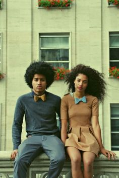 Love this afro couple.