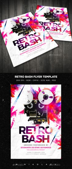 Retro Bash Flyer Template PSD. Download here: http://graphicriver.net/item/retro-bash-flyer/15999188?ref=ksioks