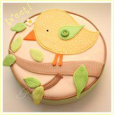 A-dorable bird cake ;)  by Kassie (Flickr)