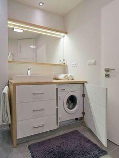 Bagno piccolo con lavatrice - Mobile con lavatrice