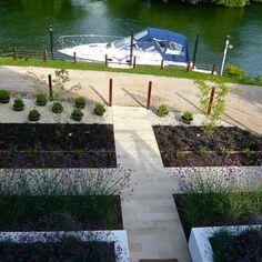 View from above Riverside Garden, Sidewalk, Sidewalks, Pavement, Walkways