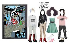 """Marceline and he Scream Queens"" by everysimpleplan ❤ liked on Polyvore featuring Burberry, Wet Seal, MANGO, Alexander Wang, WithChic, Dolce&Gabbana, Charlotte Russe and adventuretime"