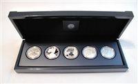 2011 American Silver Eagle 25th Anniversary Five Coin Set