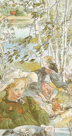 Crayfishing (detail), 1897, by Carl Larsson (Swedish, 1853–1919). Associated with the Arts & Crafts Movement, he worked in both oil and watercolour Carl Larsson, Alphonse Mucha, Carl Spitzweg, Scandinavian Art, Arts And Crafts Movement, Museum Of Fine Arts, Large Painting, Book Illustration, Art History