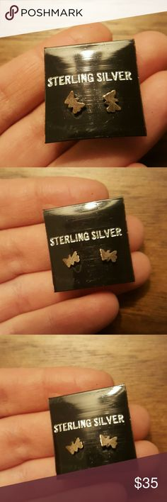 Vintage Sterling Silver Butterfly Earrings Adorable - from my grandmother's store 1974-1984. Never sold or worn. Still have original tags on them! Vintage Jewelry Earrings