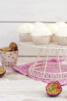 Coconut & Passion Fruit Cupcakes