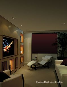 Dim your lights to the perfect level, recreating that moment when the lights go down and the show begins. www.lutron.com/residential
