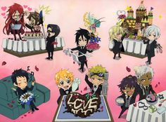 Grell, William, Lau, Finni, Bardroy, Soma, Agni, Ash, Viscount and Sebastian - chibi ^^