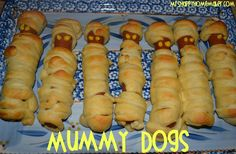 Mummy dogs! Need to share this with Caroline for the 2012 zombie party.