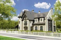 """жилой дом """"Петергоф"""" #architecture #housing #3floors_9m #eclecticism #300_500m2 #facade_brick #cottage #mansion"""