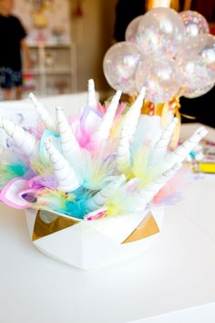 Unicorn Headbands | Unicorn Birthday Party Decorations + Party Favors | by Jessica Wilcox of Modern Moments Designs | www.modernmomentsdesigns.com