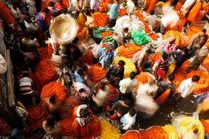 Flower Market, Kolkata by S.R.C, via Flickr