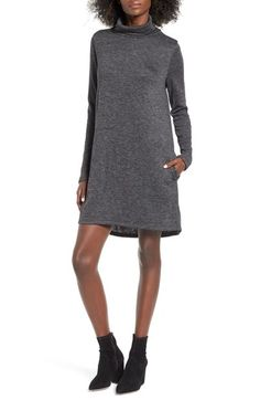 Burgundy Medium Leith Leith Funnel Neck Dress available at #Nordstrom