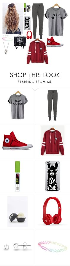 """""""Outfit"""" by gabymyredis ❤ liked on Polyvore featuring Calvin Klein Collection, Converse, WithChic, Hannah Martin, OTM Essentials, Eos, With Love From CA and Gucci"""