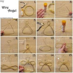 DIY Wire Angel Christmas ornament - tutorial.: