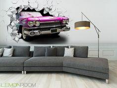 Fototapeta Vintage car >> http://lemonroom.pl/fototapeta-35-Fototapety-D-wf129-Pink-Vintage-car-in-the-wall.html #fototapety #fototapeta #fototapety3D #Design #WystrójWnętrz #inspiracje #Dekoracje #Wnętrza #Aranżacje #Wnetrza #wystrojwnetrz #InteriorDesign #HomeDecor #Decorating #WallDecor #WallArt #Wallmurals #murals