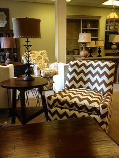 Oh chevron...@ OP Jenkins Furniture and Design