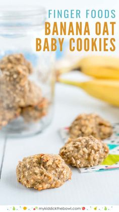 Basic Banana baby cookies, easy baby led weaning recipe, breakfast or snack, soft finger food for babies #babyledweaning #blw #homemadebabyfood #teething #babyfood