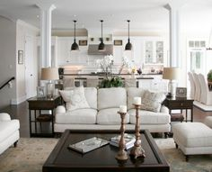 Living room and kitchen open concept kitchen living room design ideas living room kitchen combo layout . Home And Living, Room Design, Home, Living Decor, Room Remodeling, Family Room, Traditional Design Living Room, Family Room Design, Traditional Living Room