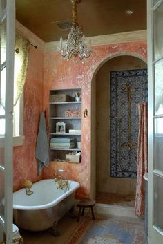 Get inspired by some of these gorgeously designed shower spaces. With interesting colours, rustic elements, and a beautiful interior setup, your shower room doesn't have to be boring the same old same old. A little bit of effort goes a long way when decorating a small space such as the bathroom. Source a lovely rug, add texture to the walls and get a colour scheme going. You can also incorporate mosaics or patterned floor-tiles to add a fashionable twist to your conventional bathroom. Images…