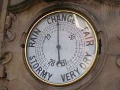 """Temperature gauge on The Fighting Cocks. At this point it was at """"Change"""". This is one of the pubs mentioned in my new book Victorian Buildings of Birmingham by Roy Thornton. The only pub I captured in Moseley (there are others, but I may do those another time perhaps). It is called The Fighting Cocks, it was built in 1899 (according to the book - Heritage Gateway says 1903) and is a Grade II listed building. One of the best known designed outside the City Centre by Newton & Cheatle. It is…"""