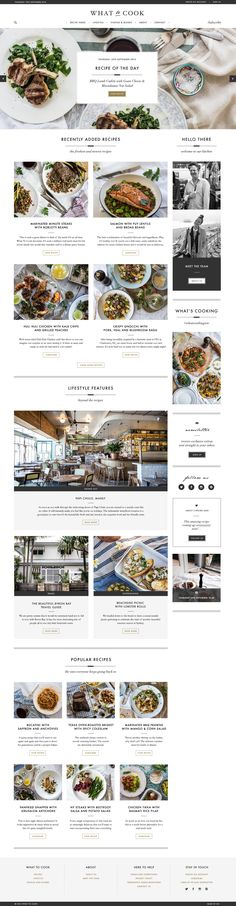 Digital design to help grow an ambitious online food magazine. Blog Layout, Web Layout, Blog Design, Web Design Inspiration, Leaflet Layout, Corporate Website Design, Food Website, User Interface Design, What To Cook