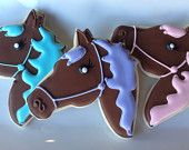 Horse Rodeo Sugar Cookie Collection. $36.00, via Etsy.