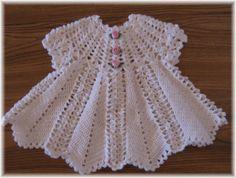 Crochet Pattern for Apple Blossom  Baby Girl Dress