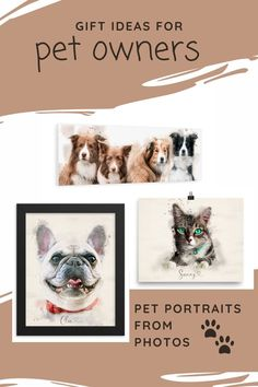 Pet portraits make a wonderful and thoughtful gift for anyone who loves their pet, is suffering from pet loss or for someone who wants to remember their childhood pet. Custom Dog Portraits, Pet Portraits, Animal Paintings, Animal Drawings, Watercolor Effects, Pet Loss, Pet Memorials, Thoughtful Gifts