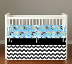 Mickey Mouse Surfs Up Crib Bedding  4 Piece Set by flashybaby