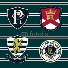Buy this vector graphic on Fotolia (extended license for commercial use) #heraldry #embroidery #patch #athletic #vintage #lion #crest #athl #athletic #university