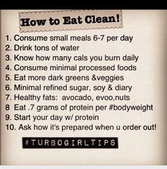 How to eat clean