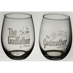 Personalized Wine Gift Set | Gifts For Godparents, Godmother, Godfather