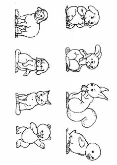 Animals Coloring Page by Bernhard Oberdieck - (edupics) Free Coloring Sheets, Animal Coloring Pages, Adult Coloring Pages, Coloring Pages For Kids, Teaching Materials, Outlines, Grandchildren, 3, Photos