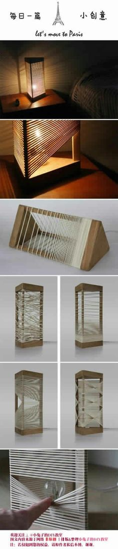Ideas Diy Lamp Creative Lighting Ideas For 2019 Diy Furniture, Furniture Design, Creation Deco, Ideias Diy, Home And Deco, Home Projects, Diy And Crafts, Wood Crafts, Diy Home Decor