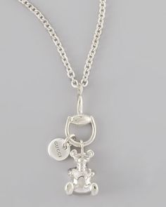 Bear Charm Necklace by Gucci at Neiman Marcus.