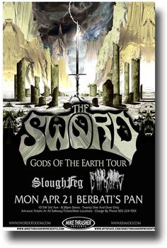 The Sword Poster Band Metal $9.84 Concert Gods of The Earth Tour