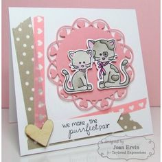 Boutique scrapbooking - Tampon Taylored Expressions chats empreintes