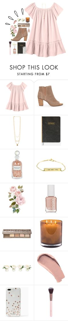 """""""Ootd in items!!"""" by lindonhaley ❤ liked on Polyvore featuring Rebecca Taylor, TOMS, Mullein & Sparrow, Essie, Urban Decay, Laura Mercier, NDI, Burberry, Kate Spade and Old Navy"""