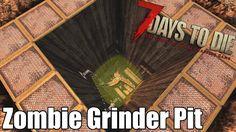 7 Days to Die - Zombie Grinder Pit - Zombie Blade Pit (Alpha 7 Days To Die, Die Games, Xbox Games, Board Games, Blade, Gaming, Videos, Videogames, Tabletop Games
