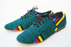 Kente Cloth covered shoes. These are pretty cool. =)